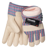 Tillman™ Large Pearl And Blue Pigskin Thinsulate™ Lined Cold Weather Gloves