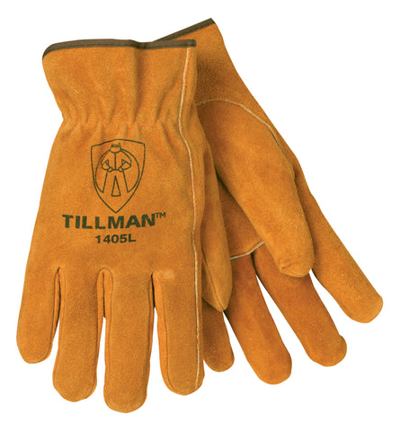 Tillman Large Russet Economy Cowhide Unlined Drivers Gloves