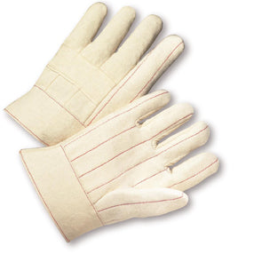 West Chester Large Natural Regular Weight Cotton Hot Mill Gloves With Band Cuff