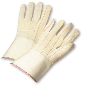 West Chester Large Natural Extra Heavy Weight Cotton Hot Mill Gloves With Gauntlet Cuff