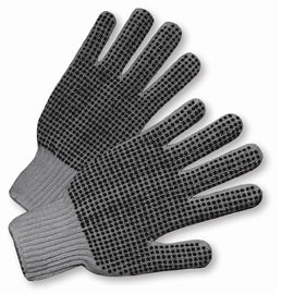 West Chester Gray Large Cotton And Polyester General Purpose Gloves With Knit Wrist