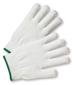West Chester White Ladies Nylon General Purpose Gloves With Elastic Wrist