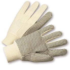 West Chester Natural Large Cotton General Purpose Gloves With Knit Wrist