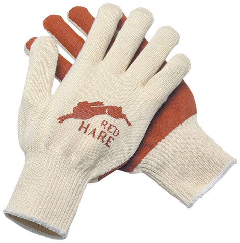 MCR Safety Medium Red Hare® 10 Gauge Red Nitrile Palm Coated Work Gloves With White Cotton Liner And Knit Wrist