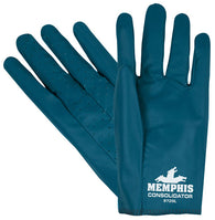 MCR Safety X-Large Consolidator® Blue Smooth Nitrile Fully Coated Work Gloves With Interlock Liner