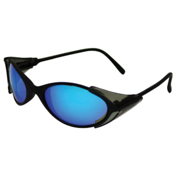 Kimberly-Clark Professional* Jackson Safety* Nomads® 2100 Series Safety Glasses With Black Frame And Metallic Blue Mirror Lens