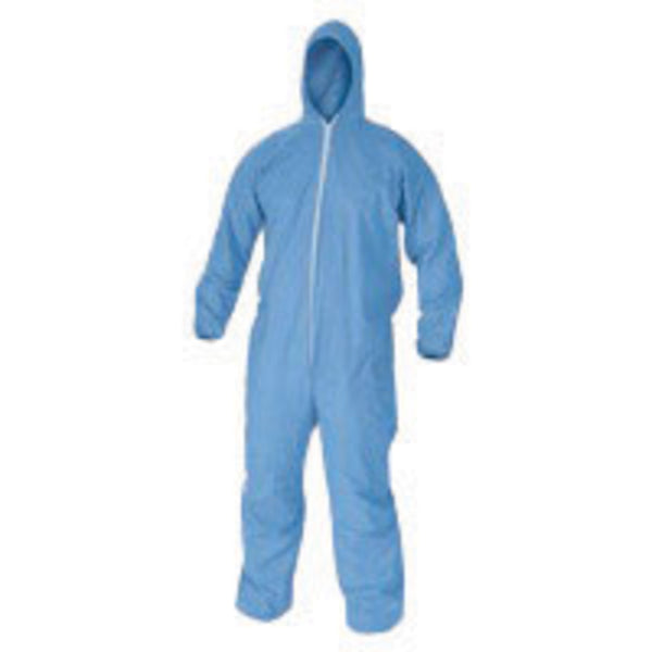Kimberly-Clark Professional Large Blue KleenGuard A65 Nonwoven Cellulose/Polyester Spunlace Disposable Coveralls -Price is per 1 Each