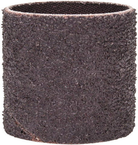 "Merit® 1 1/2"" X 1 1/2"" X 1/4"" 36 Grit Very Coarse Grade Aluminum Oxide Coated Resin Bond Spiral Band -Price is per 100 Each"