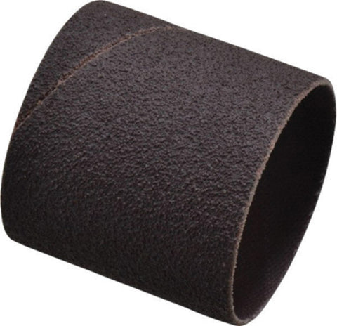 "Merit® 1 1/2"" X 1 1/2"" X 1/4"" 80 Grit Medium Grade Aluminum Oxide Coated Resin Bond Spiral Band -Price is per 100 Each"