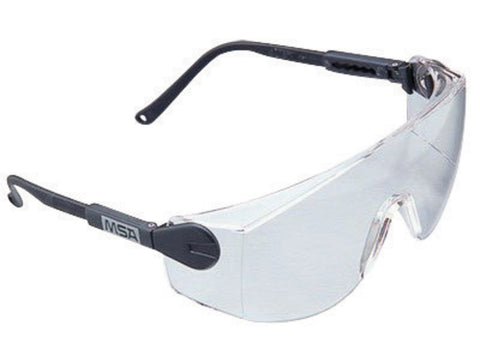 MSA Sightgard Blue Safety Glasses With Clear Lens