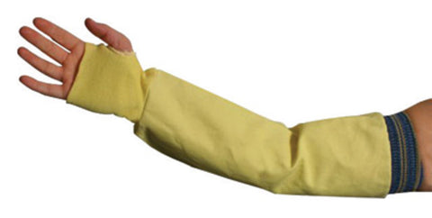 "National Safety Apparel Size 24"" Yellow 8 Ounce Kevlar® Sleeve With Elastic Closure   -Price is per 1 Pair"