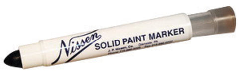 "Nissen® Black Standard Solid Paint Marker With 5/16"" Wide Point -Price is per 1 Each"