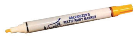 "Nissen® Yellow Feltip Galvanizers Tube Paint Marker With 1/8"" Wide Point"