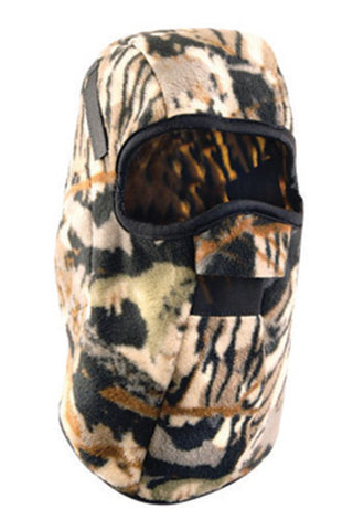 OccuNomix Camouflage 100% Polyester Super Heavy Weight Fleece Hot Rods® Single Layer Classic Mid-Length Winter Liner With Mesh Mount, Nose Guard And Without Insulated Ear Barrier