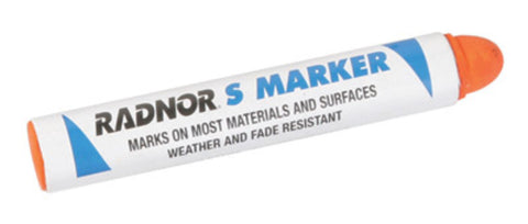 RADNOR® Orange S Solid Stick Paint Marker