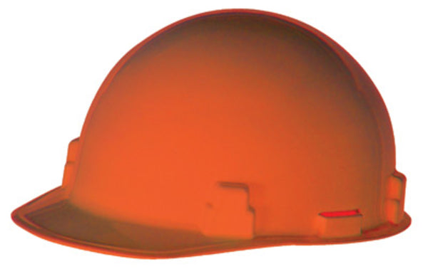 Radnor Orange SmoothDome Polyethylene Hard Hat With Ratchet Suspension