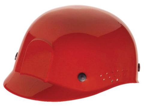 RADNOR® Red Polyethylene Cap Style Bump Cap With Pin Lock Suspension   -Price is per 1 Each