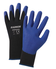 RADNOR® 2X 15 Gauge Blue PVC Palm And Finger Coated Work Gloves With Black Nylon Knit Liner And Knit Wrist   -Price is per 1 Pair