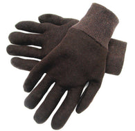 RADNOR® Brown Standard Weight Cotton And Polyester Reversible General Purpose Gloves With Knit Wrist   -Price is per 12 Pair