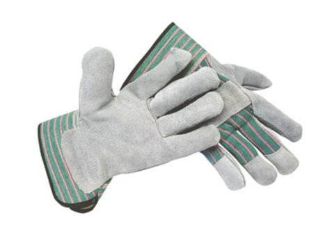 RADNOR® Small Shoulder Split Leather Palm Gloves With Canvas Back And Safety Cuff
