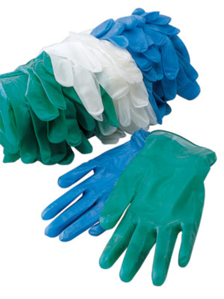 Radnor Medium Green Vinyl Disposable Gloves