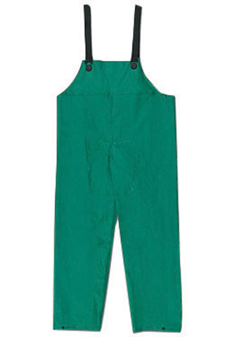 MCR Safety X-Large Green Polyester And PVC Bib Pants