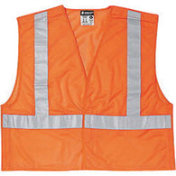 "River City Garments® 4X Hi-Viz Orange Solid Polyester Mesh Class 2 Tear Away Vest With Front Zipper Closure And 3M Scotchlite 2"" Silver Reflective Tape And 2 Pockets"