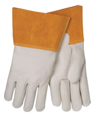 Tillman Large Pearl And Gold Cowhide TIG Welders Gloves