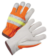 Radnor Large Cowhide Polyester Leather Drivers Gloves
