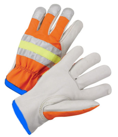 Radnor X-Large Cowhide Polyester Leather Drivers Gloves