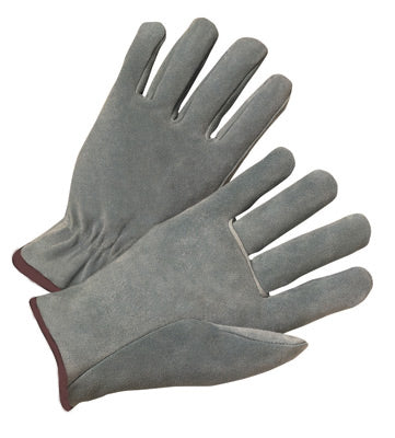 Radnor® Large Gray Standard Split Cowhide Unlined Drivers Gloves