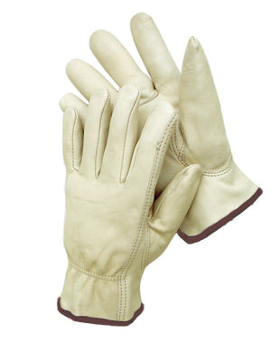 Radnor® Large Natural Premium Grain Cowhide Unlined Drivers Gloves
