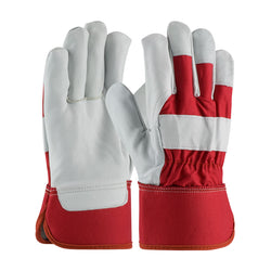 Radnor® Large Goatskin Palm Gloves With Canvas Back And Safety Cuff