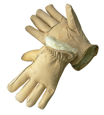 Radnor Cold Weather Gloves, Grain Cowhide Drivers' w/3M Thinsulate 100gm Insulation Lining, Size Small - 12 Pairs