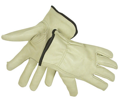 Radnor Cold Weather Gloves, Grain Pigskin Drivers' w/Fleece Lining, Size Small - 12 Pairs