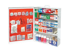 Radnor® Five-Shelf 100 Person Durable Metal Industrial First Aid Cabinet