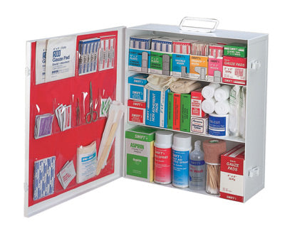 Radnor® Empty Three-Shelf 25 Person Industrial First Aid Cabinet