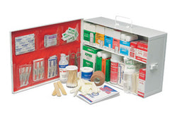 Radnor® Two-Shelf 10 Person Durable Metal Mobile Utility First Aid Kit