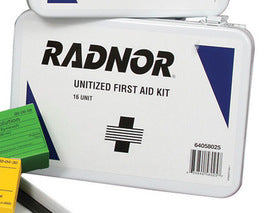 Radnor® 16 Person Unitized First Aid Kit In Metal Case