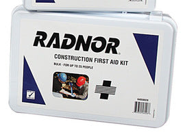 Radnor® 25 Person Bulk Construction First Aid Kit In Plastic Case