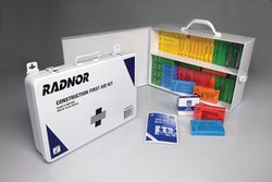 Radnor® White And Black Metal Portable Or Wall Mounted 25 Person First Aid Kit