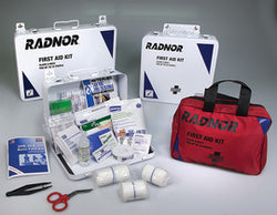 Radnor® White And Black Metal Portable Or Wall Mounted 75 Person First Aid Kit