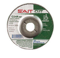 "United Abrasives 9"" X 1/8"" X 7/8"" C24R 24 Grit Silicon Carbide Type 27 Cut Off Wheel-Price is per 1 Each"