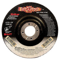 "United Abrasives/SAIT 4 1/2"" X 1/4"" X 7/8"" SaitZ-tech Zirconium Type 27 Grinding Wheel-Price is per 25 Each"