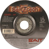 "United Abrasives 5"" X 1/8"" X 7/8"" SaitZ-tech Zirconium Type 27 Cut Off Wheel-Price is per 1 Each"
