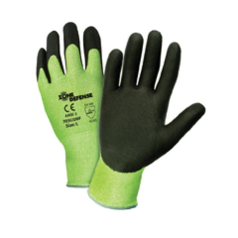 PIP® 2X Zone Defense® 10 Gauge High Performance Polyethylene Cut Resistant Gloves With Nitrile Coating-Price is per 12 Pairs