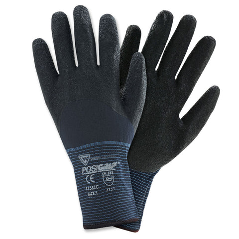 PIP® X-Large PosiGrip 15 Gauge Latex Work Gloves With Nylon Liner And Rib Knit Cuff-Price is per 12 Pairs