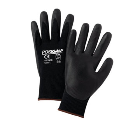 PIP® Medium PosiGrip 15 Gauge Nitrile Work Gloves With Nylon Liner And Rib Knit Cuff-Price is per 12 Pairs