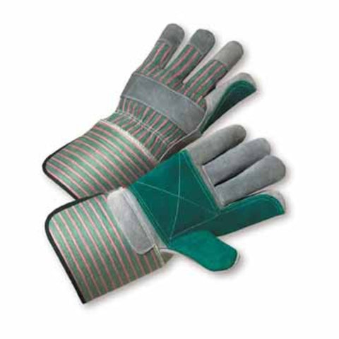 PIP® X-Large Premium Split Double Leather Palm Gloves With Canvas Back And Rubberized Gauntlet Cuff-Price is per 1 Pair