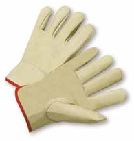 PIP® Large Natural Select Grain Cowhide Unlined Drivers Gloves-Price is per 1 Pair